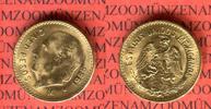5 Pesos Goldmünze 1955 Mexiko Kursmünze vz...