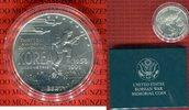 1 Dollar Silbermünze 1991 USA United State...