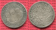 3 Brüder Taler 1592 Sachsen Albertinische ...