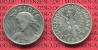 5 Zloty Silber 1925 Polen, Poland Punkt na...