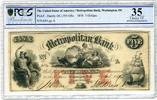 5 Dollars 1854 Washington DC USA Schiff, a...