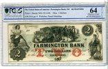 2 Dollars 18xx USA Landwirtschaft New Hamp...