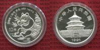 10 Yuan Panda 1 Unze Silber 1991 China Vol...