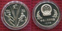 25 Yuan Silbermünze 1982 China Fußball WM ...