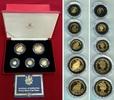 1/25, 1/10, 1/5, 1/2 und 1 Crown Goldmünze...