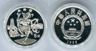 5 Yuan Silbermünze 1995 China Chinesische Tänze PP in Kapsel  59,00 EUR  +  8,50 EUR shipping