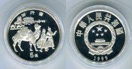 5 Yuan Silbermünze 1995 China Karawane auf...