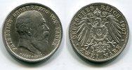 2 Mark Silber 1907 Baden Auf den Tod von Großerzog Friedrich prägefrisc... 70,00 EUR  +  8,50 EUR shipping