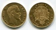 50 Francs Goldmünze, Goldcoin 1858 A Frank...
