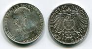 2 Mark Silbermünze Kursmünze 1915 Sachsen ...