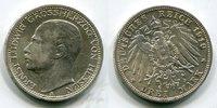 3 Mark 1910 Hessen Ernst Ludwig, vz-prfr.  120,00 EUR  +  8,50 EUR shipping