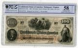 100 Dollars Banknote 1862 CSA Konföderierte Staaten von Amerika Mit Ste... 216.39 US$ 199,00 EUR  +  9.24 US$ shipping