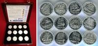 Medaillenset 12 Stück 999er Silber  Deutsc...