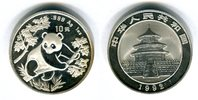 10 Yuan 1992 China Silber-Panda 1992 Stemp...