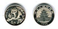 5 Yuan Silbermünze 1993 China Silber-Panda...