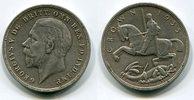 1 Crown, 5 Shilling Silber 1935 England Gr...