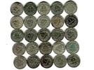 25 x 1 Mark Silbermünzen verschieden Kaise...