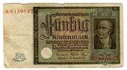 50 Rentenmark 1934 Weimarer Republik Rente...