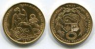 50 Soles Gold 1966 Peru Lima prägefrisch l...