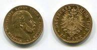 10 Mark Gold 1875 B Preußen, Prussia State...
