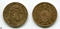 10 Mark Preußen Gold 1873 C Preußen Wilhel...