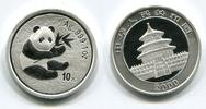 10 Yuan 1 Unze Silber 2000 China Panda Key...