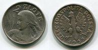 2 Zloty Silber 1925 Polen, Poland Punkt na...