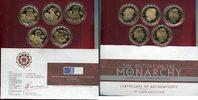 5 x 5 Pfund Silber vergoldet 2007 Alderney...