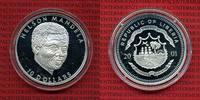 10 Dollars Silbermünze 2001 Liberia Liberi...
