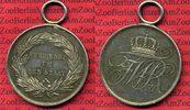 Medaille Silber Tragbar ca. 1840 Preußen V...