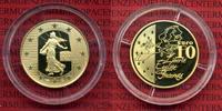 10 Euro Gold 2003 Frankreich France Tour d...