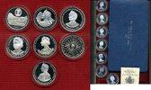 7 x Silber Crowns 1980 Grossbritannien Tuv...