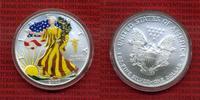 1 Dollar Silver Eagle 1 Unze Farbmünze 200...