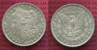 USA 1 Dollar Silber Morgan Typ USA 1 Dollar Morgan Typ 1896, Silber überdurchschnittlich