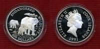 100 Dollars Silber 5 Unzen 1991 Cook-Insel...