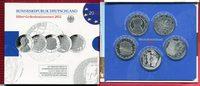 5 x 10 Euro Silber Gedenkmünzenset 2012 Bu...