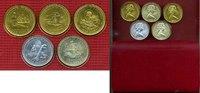 5 x 1 Crown Münzen 1979 Insel Man, Isle of...