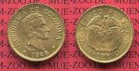 5 Pesos Gold Kursmünze 1925 Kolumbien Columbia Kolumbien 5 Pesos Goldmü... 380,00 EUR kostenloser Versand