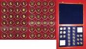 24 x 25 Dollars Minigoldmünzen 2000/2001 L...