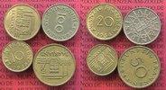 Satz, 10, 20 50 und 100 Franken 1954-55 Sa...