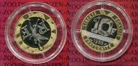 10 Francs Bimetall Silber Gold 1988 Frankreich, France Frankreich 1989 ... 550,00 EUR  +  8,50 EUR shipping