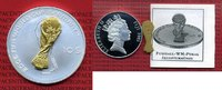 10 Dollars Silbermünze Skulptur 2005 Fiji,...