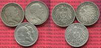 Lot 3 x 2 Mark Silbermünzen 1902 Baden  Baden 2 Mark 1902,1906 und 1903... 80,00 EUR  +  8,50 EUR shipping