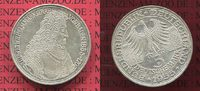 Bundesrepublik Deutschland 5 DM Gedenkmünze Silber 5 DM 1955 G, 300. Geburtstag Ludwig Wilhelm  Markgraf v. Baden sog. Türkenlouis