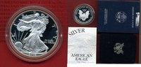 1 Dollar, 1 Unze Silber 2002 USA American ...