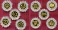 1 DM Gold - Mark , Satz, A,D,F,G,J Kompl 2...