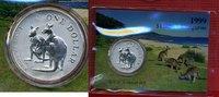 1 Dollar Silbermünze 1999 Australien Kängu...