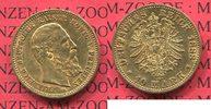 Preußen, State of Prussia German Empire 10 Mark Goldmünze Preußen 10 Mark Gold 1888 J. 247 Friedrich III.