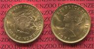 Chile 50 Pesos 5 Condores Goldmünze Chile 50 Pesos, 5 Condores, 1971 Seltenes Jahr Goldmünze