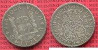 Mexico, Mexiko unter Spanien 8 reales Silbermünze Wappen m. Säulen Mexiko unter Spanien 8 Reales 1771 FM, Pillar Dollar Typ Karl III.